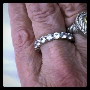 Sterling Silver size 9 Eternity Band Ring